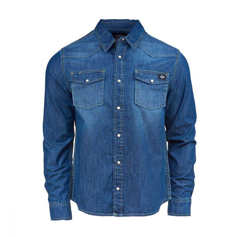 Dickies Willard Denim Skjorte Mid Blue