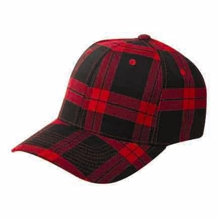 Flexfit Cap Red Check-54-58 CM.
