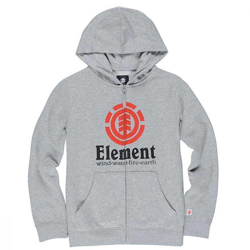 Element Vertical Hoody Zip Grey Heat