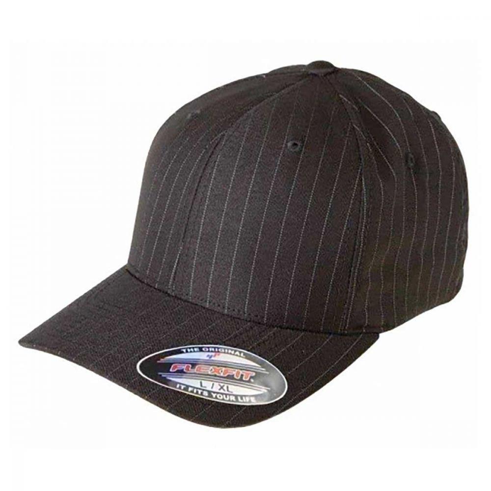 Flexfit Pinstripe Cap Black/white-54-58 CM.