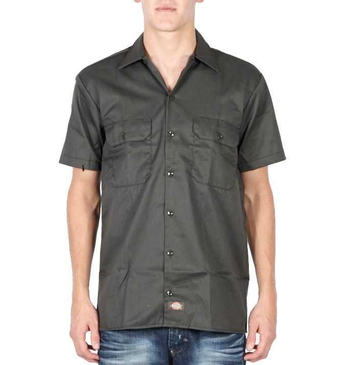 Dickies kortærmet skjorte - Olive Green
