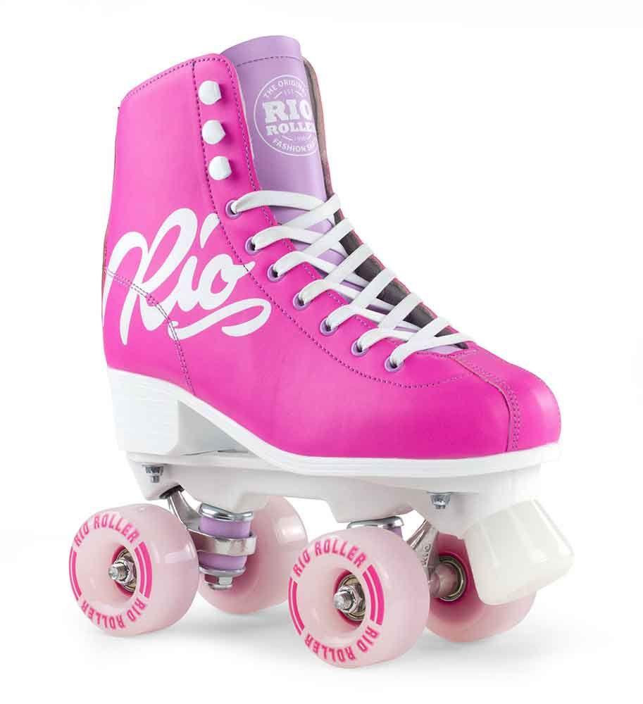 Rio Roller Side By Side Rulleskøjte Script Pink/Lilac