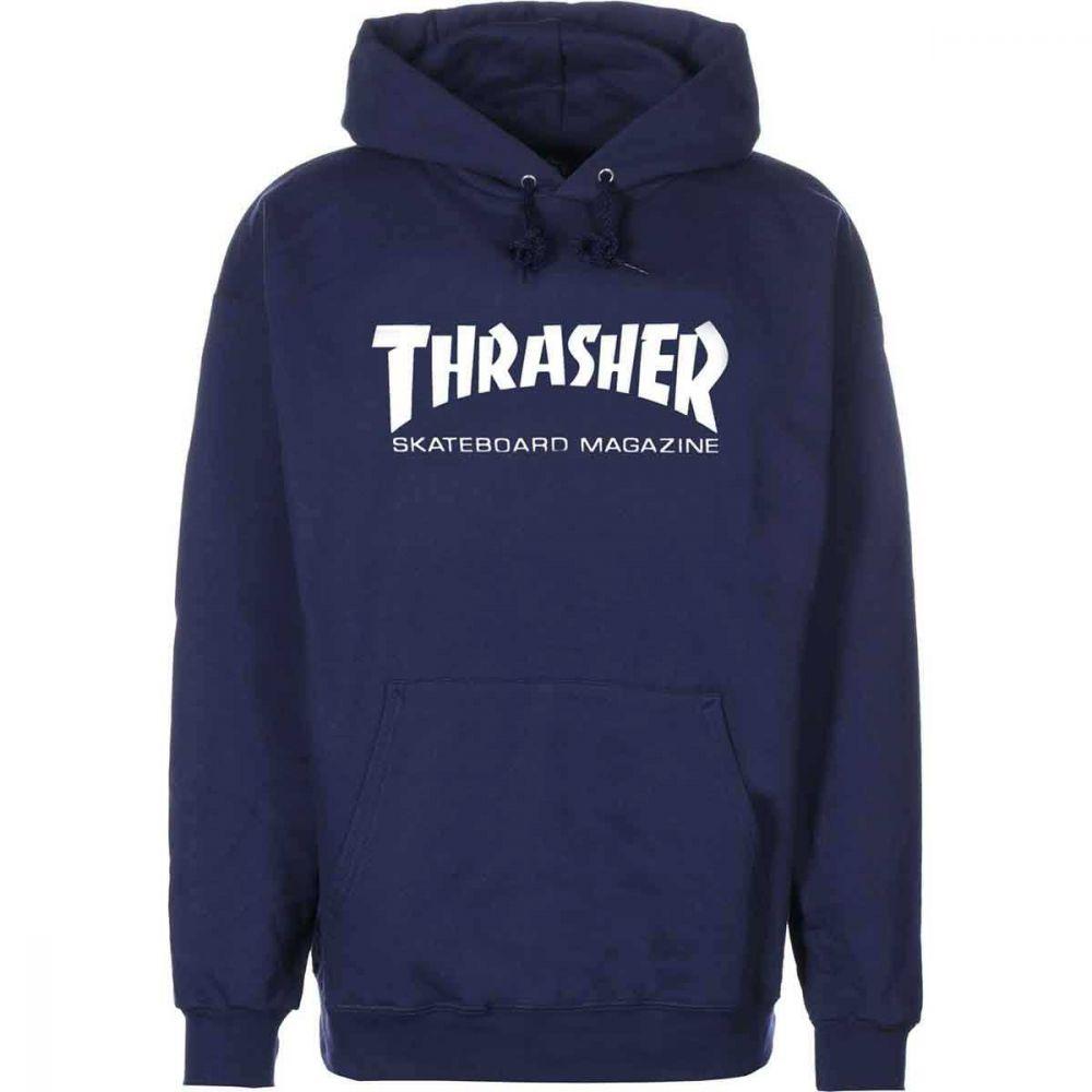 Thrasher Skate Magazine Hættetrøje Navy Blå