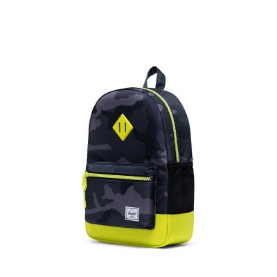Herschel Heritage Rygsæk Youth Night Camo Lime Punch 16L