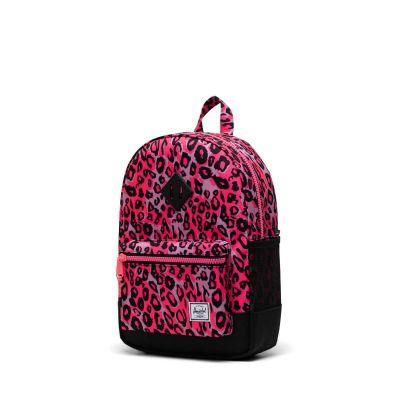 Herschel Heritage Youth Skoletaske Cheetah Camo Neon Pink/Black