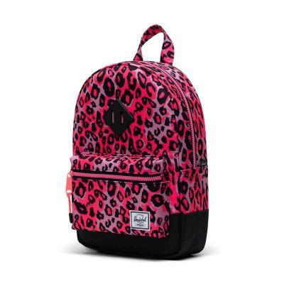 Herschel Heritage Rygsæk Youth Cheetah Camo Neon Pink/Black 9L