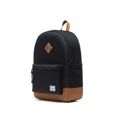 Herschel Heritage Youth X-Large Skoletaske Black/Saddle Brown