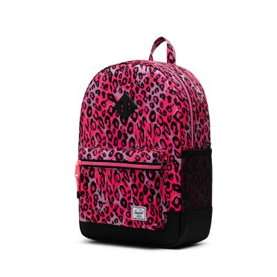 Herschel Heritage Rygsæk Youth Cheetah Camo Neon Pink/Black 20L