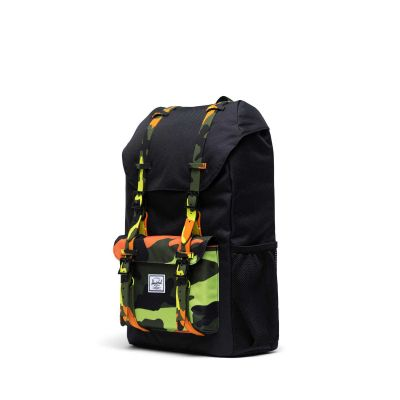Herschel Little America Backpack Black/Neon Camo