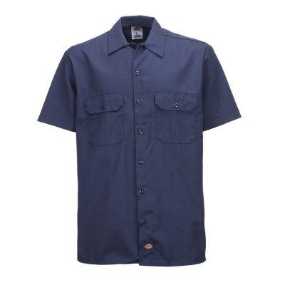 Dickies 1574 Work Shirt Kortærmet Skjorte Navy