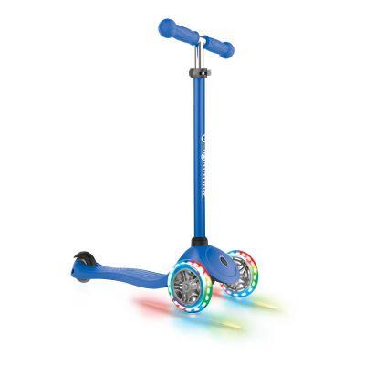 Globber Primo Løbehjul til Børn m/ LED lys Navy blå