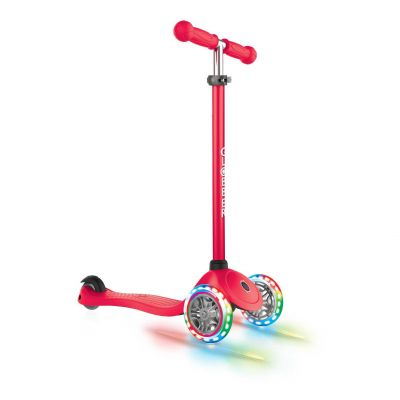 Globber Primo Løbehjul til Børn m/ LED lys Rød