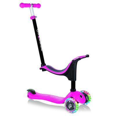 Globber Go Up Sporty Pink, LED lys i forhjulene