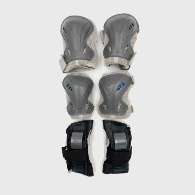 Rollerblade Beskyttelsessæt 3-pak Grå/Blå