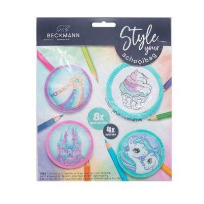 Beckmann Badgets/Mærker Mint/Pink 4 stk