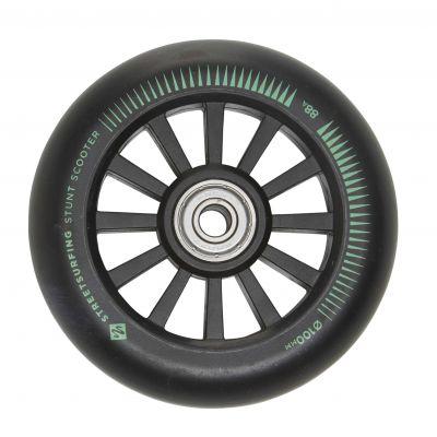 Streetsurfing 100 mm Nylon Core Wheel Black, 2-pak