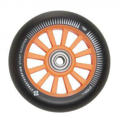 Streetsurfing 100 mm Nylon Core Wheel Orange Black, 2-pak
