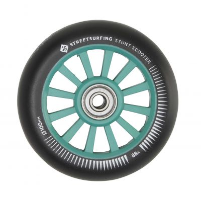 Streetsurfing 100 mm Nylon Core Wheel Green Black, 2-pak