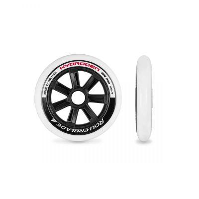 Rollerblade Hydrogen Hjul 125mm/85A Hvid/Sort/Unica 6-pak