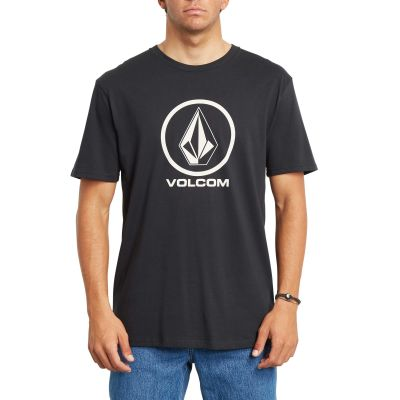 Volcom Crisp Stone Skate T-Shirt Black