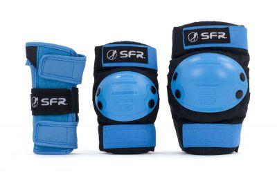 SFR Youth Ramp Skate Beskyttelse 3-pak Blå