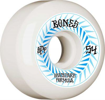 Bones Skatepark Wheel Spines • SPF 84B • 54mm • White • P5 Sidecut, 4-pak