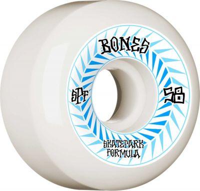 Bones Skatepark Wheel Spines SPF 84B 58mm White P5 Sidecut 4-pak