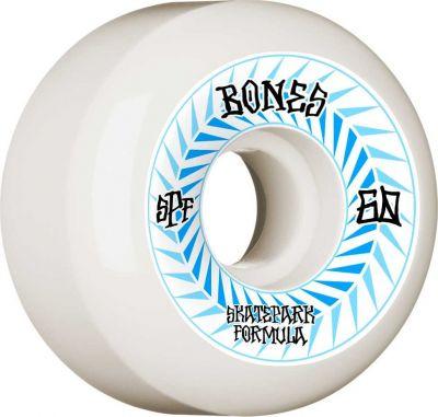Bones Skatepark Wheel Spines SPF 84B 60mm White P5 Sidecut 4-pak