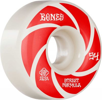 Bones Wheel Patterns • STF 103A • 54mm • White • V1 Standard, 4-pak