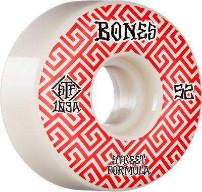 Bones Wheels Skateboard Hjul Patterns STF 103A 52mm White V2 Locks