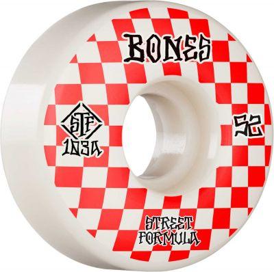 Bones Wheels Skateboard Hjul Patterns STF 103A 52mm White V3 Slims 4-pak