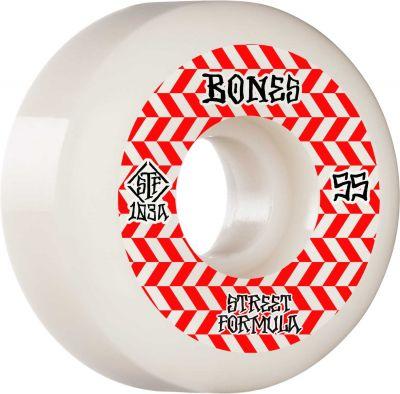 Bones Wheels Skateboard Hjul Patterns STF 103A 55mm White V5 Sidecut 4-pak