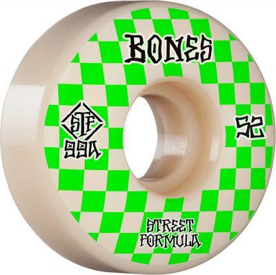 Bones Wheel Patterns • STF 99A • 52mm • White • V3 Slims, 4-pak