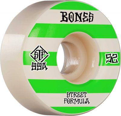 Bones Wheel Patterns • STF 99A • 52mm • White • V4 Wide, 4-pak