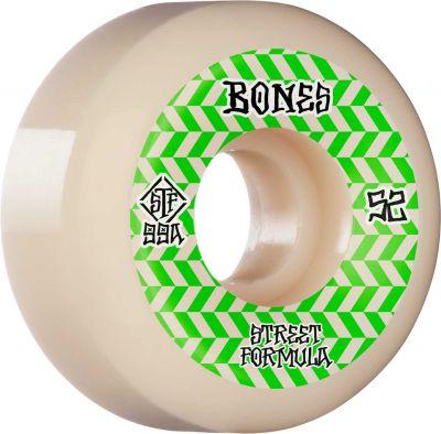 Bones Wheel Patterns • STF 99A • 52mm • White • V5 Sidecut, 4-pak