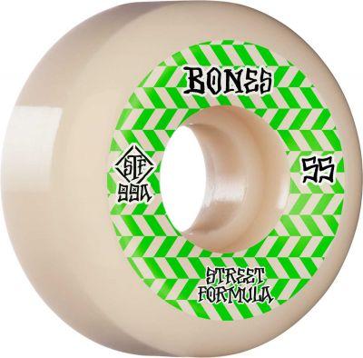 Bones Wheel Patterns • STF 99A • 55mm • White • V5 Sidecut, 4-pak