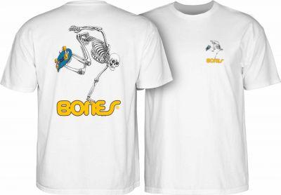 Powell Peralta Skateboarding Skeleton T-shirt - White