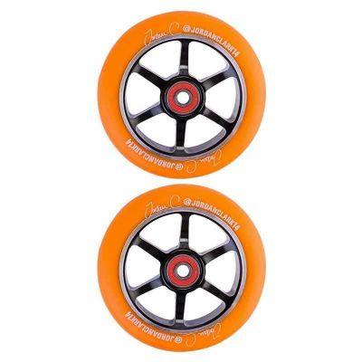 Grit Jordan Clark Signature Wheels 2-pak 110mm Orange on Black
