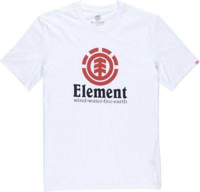 Element Vertical Optic Kortærmet T-Shirt Børn Hvid