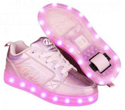2. Sortering. Heelys Rullesko Premium 2 Lo Light Pink Hologram STR. 40,5.