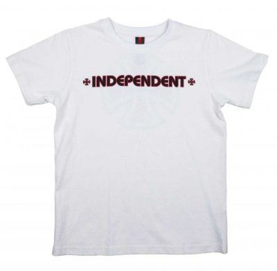 Independent Youth Bar Cross Tee White