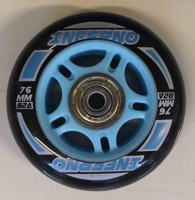 Rulleskøjtehjul til Inferno Inliner Blue 1. stk.
