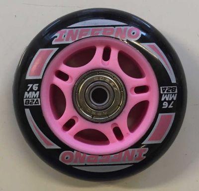 Rulleskøjtehjul til Inferno Inliner Pink 1. stk.