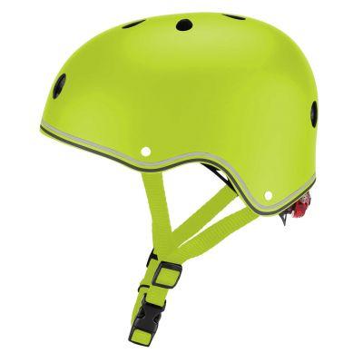 Globber Primo Cykelhjelm m/LED-lys Lime Grøn