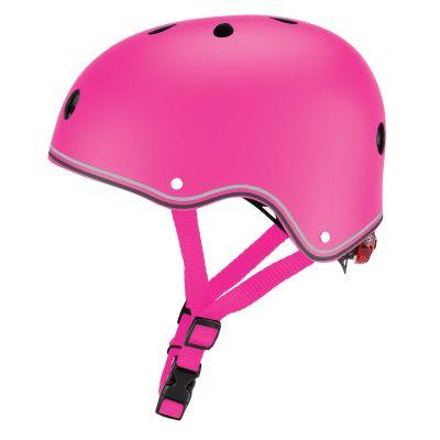 Globber Primo Cykelhjelm m/LED-lys Deep Pink