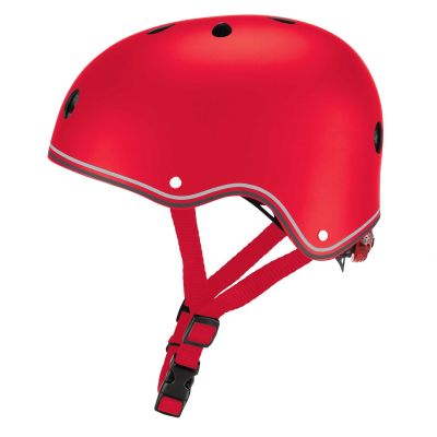 Globber Primo Cykelhjelm m/LED-lys Rød