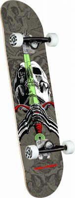 Powell Peralta Skull & Sword Gray Birch Skateboard - 7.5 x 28.65