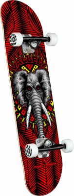 Powell Peralta Vallely Elephant Red Skateboard - 8.25 x 31.95