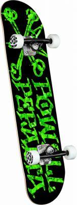 Powell Peralta Vato Rats Leaves Black Skateboard - 7.5 x 28.65