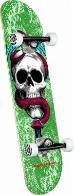 Powell Peralta Skull & Snake Green Skateboard - 7.75 x 31.08